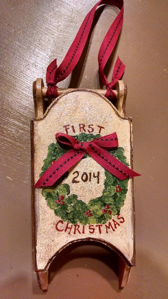 Our First Christmas Sled Ornament