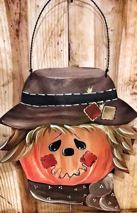 Large Hanging Scarecrow Head
