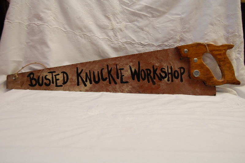 Busted Knuckle Workshop Saw Sign