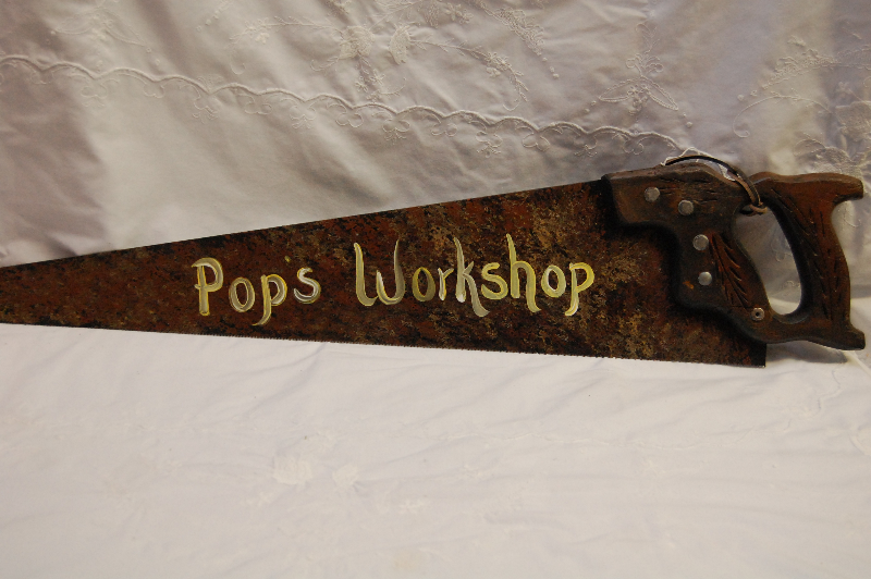 Pop's Workshop Saw Sign