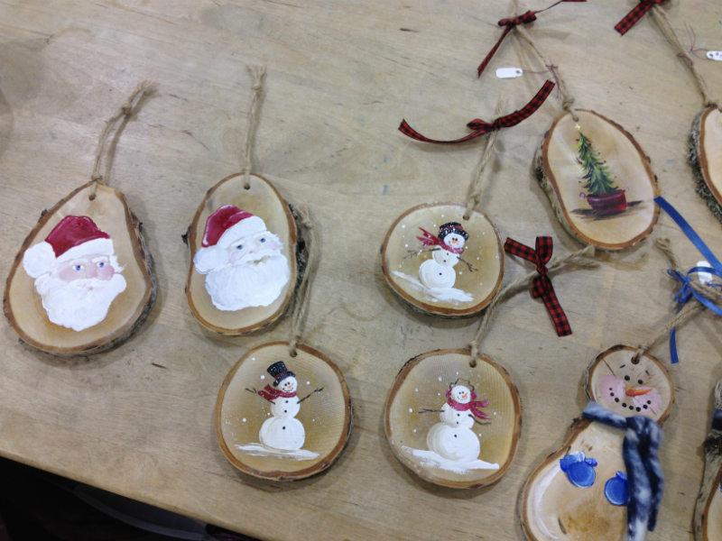 White Birch Ornaments