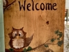 Owl Barn Wood Welcome Sign