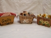 Painted Antique Berry Baskets
