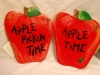 Hanging Wooden Apple Signs